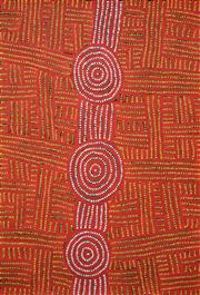 Sale 8408 - Lot 521 - Bambatu Napangardi (1940 - ) - Kungka Tjukurrpa 97 x 66cm