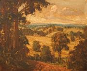 Sale 8622 - Lot 2034 - Alex Edwards (C20th) - The Homestead Amongst Rolling Hills 44 x 54.5cm