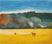Sale 8665 - Lot 539 - Arthur Boyd (1920 - 1999) - Cows and Pulpit Rock 68 x 78cm