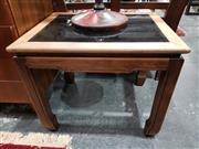 Sale 8889 - Lot 1023 - Oriental Style Glass Top Side Table