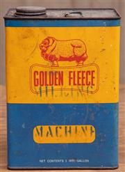 Sale 8984H - Lot 48 - A Golden Fleece oil can marked Milking Machine in stencil, Height 24cm with original contents.