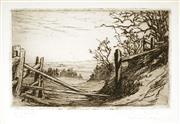 Sale 9011 - Lot 2005 - Eirene Mort (1879 -1979) - The Sliprail 9.5 x 15 cm (frame: 34 x 39 x 2 cm)