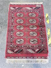 Sale 9034 - Lot 1065 - Hand Made Persian Bokhara (100 x 64cm) Some Losses