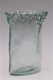 Sale 9052 - Lot 190 - MCM Vintage German Textured Glass Ice Vase (H: 25cm)