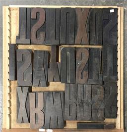 Sale 9117 - Lot 1078 - Tray of Printers Blocks