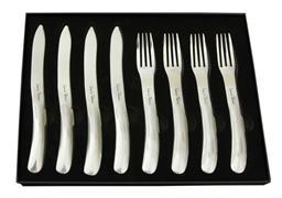 Sale 9156L - Lot 68 - Laguiole by Louis Thiers Organique 8-piece Steak knife set - polished