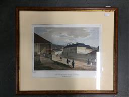 Sale 9139 - Lot 2050 - Louis Auguste de Sainson Vue de Georges Street a Sydney (Nouvelle Galles du Sud), 1833, framed lithograph