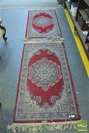 Sale 8390 - Lot 1338A - Pair of Small Carpets (150 x 80cm each)