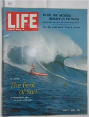 Sale 8431B - Lot 60 - Front cover and article, Peril of Surf. 8 pages in Life Australia magazine, April 1968