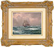 Sale 8449A - Lot 565 - John Allcot (1888 - 1973) - Sea Piece 19 x 24.5cm