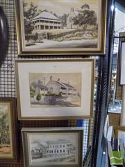 Sale 8513 - Lot 2090 - Gill Peck 3 Artworks, 2 Oils & Watercolour Architectural Scenes