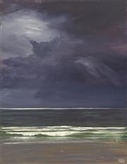 Sale 8693A - Lot 5014 - Mike Barr - Storm at West Beach 100 x 74.5cm