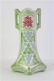 Sale 8802 - Lot 189 - A French K&G Luneville vase, in art-deco form, H; 32cm