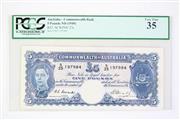 Sale 8835C - Lot 1 - A 1949 Commenwealth of Australia 5 Pound Bank Note (Graded R47, SCWPM# 27c)
