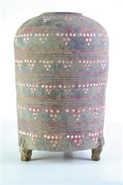 Sale 8869C - Lot 670 - Painted Chinese Potted Vessel on Tri-Feet, H33cm