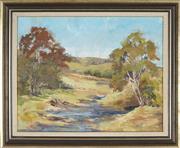 Sale 8891 - Lot 2066 - Olive McAleer (1933 - ) - Landscape near Thirlmere Lakes, Picton 39 x 49 cm