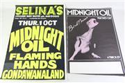 Sale 8940 - Lot 72 - Midnight Oil Vintage Original Gig Posters (2)