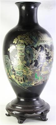Sale 8977 - Lot 71 - A Large Composite Chinese Hand painted Vase Decorated with Ladies Playing Games (H 105cm Dia Top 14cm, Dia of Mid-Section 43cm) Crac...