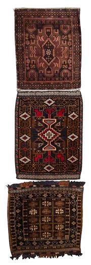 Sale 8370C - Lot 40 - 3 x Antique Persian Door Mats 70cm x 50cm