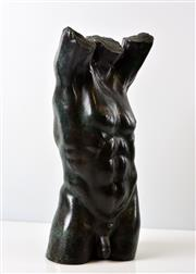 Sale 8394 - Lot 526 - David Mackay Harrison (1941 - ) - Male Torso h.40, w. 17cm