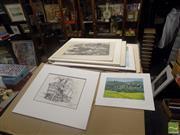Sale 8483 - Lot 2079 - 10 Artworks incl. Paintings, Etchings, Drawings, Photos