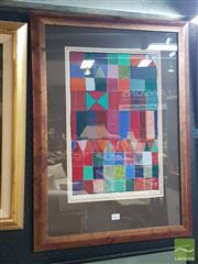 Sale 8552 - Lot 2012 - R. Rust - Geometric Colour, 1981 46 x 30cm