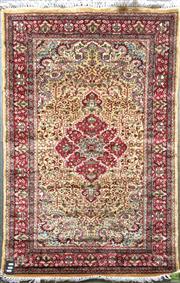 Sale 8601 - Lot 1560 - Kashmiri Silk Rug (151 x 91cm)