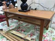 Sale 8629 - Lot 1092 - Vintage Style Coffee Table with Ratan Shelf Below