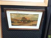 Sale 8627 - Lot 2065 - H. Collings - Village Scene, Watercolour, SLR