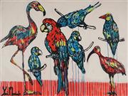 Sale 8826A - Lot 5016 - Yosi Messiah (1964 - ) - Red Parrot 91.5 x 122cm