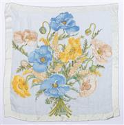 Sale 8910F - Lot 34 - A Salvatore Ferragamo floral printed silk blend scarf