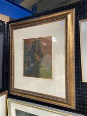 Sale 9004 - Lot 2013 - In the style of Donald Friend Portrait of A Woman, ink and watercolour, frame: 72 x 65 cm
