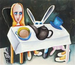 Sale 9141 - Lot 560 - Charles Blackman (1928 - 2018) Feet Beneath the Table archival pigment print, ed. A/P 66 x 76 cm (frame: 84 x 94 x 3 cm) signed lowe...