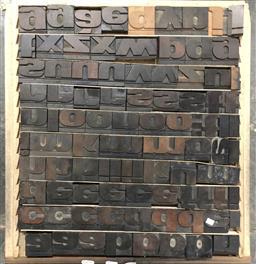Sale 9117 - Lot 1080 - Tray of Printers Blocks