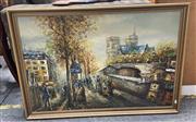 Sale 9072 - Lot 2060 - Artist Unknown (C20th) Parisian Street Scene acrylic on board, frame: 68 x 98 cm
