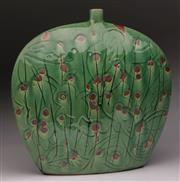 Sale 9078 - Lot 100 - A Contemporary Chinese Green Glazed Moon Flask (H 35cm)