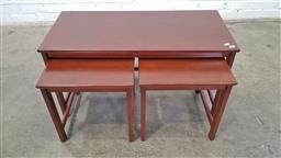 Sale 9157 - Lot 1068 - Nest of 3 parker side tables (h:47 x w:86 xd:38cm)