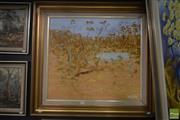 Sale 8525 - Lot 2036 - Artist Unknown - Bush Emus 59.5 x 67cm