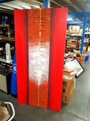 Sale 8682 - Lot 2086 - Artist Unknown - Untitled  mixed media on canvas, 100 x 200cm, signed Goco lower right