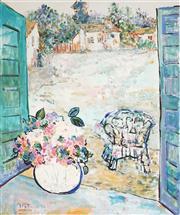 Sale 9067 - Lot 601 - Eva Hannah - Untitled (Still Life), 1987 90.5 x 75.5 cm (frame: 96 x 81 x 3 cm)