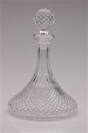 Sale 9060 - Lot 96 - A Glass Squat Based Decanter H:28cm