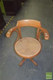 Sale 8390 - Lot 1176 - Bentwood Swivel Chair with Rattan Seat