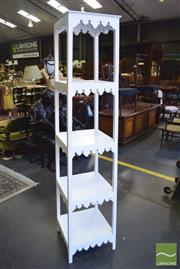 Sale 8390 - Lot 1337 - White Painted Gothic Style Etagere