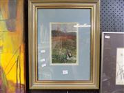 Sale 8437 - Lot 2019 - Artist Unknown Framed Oil On Board Landscape