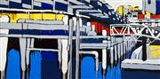 Sale 8459 - Lot 555 - Jasper Knight (1978 - ) - Walsh Bay, 2008 (diptych) 120 x 120.5cm, each (overall: 120 x 241cm)