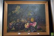 Sale 8518 - Lot 2005 - Artist Unknown - Still Life - Fruit 44 x 59cm