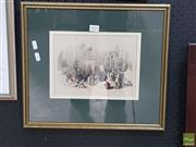 Sale 8552 - Lot 2018 - David Roberts (1796 - 1864) - Church of the Holy Sepulchre 18 x 24cm