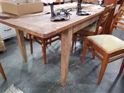 Sale 8777 - Lot 1057 - Recycled Elm Dining Table (H: 76 L: 184 W: 90cm)