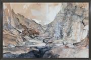 Sale 8782A - Lot 66 - John Caldwell Sandy Riverbed 95 x 147cm, watercolour