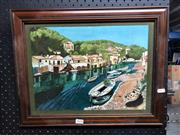 Sale 8784 - Lot 2076 - Artist Unknown - River, oil painting